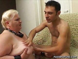 Chunky mature slave cock sucks...