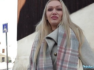 Public Agent Hot busty cougar housewife Amber Jayne sucks a