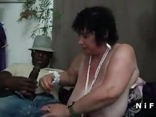 Bbw french granny hard double penetrated...