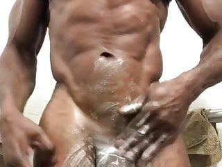 Jerks his huge soapy bbc...