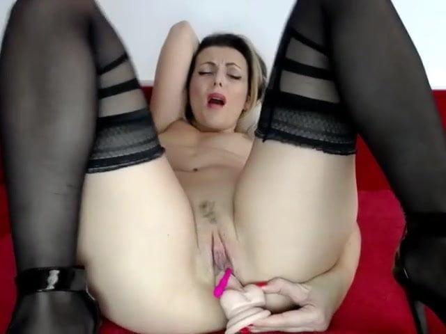 Webcam Blonde Sucking Dildo