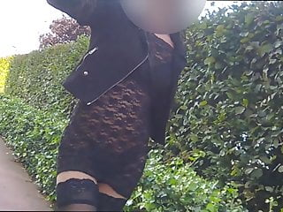 Part1 dressed at station flashing verry sluty emo public