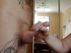 fat girl sucks and jerks off my cock 2