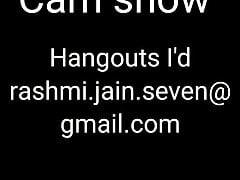 Rashmi paid cam show Hangout I'd on video